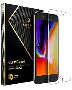 Anker KARAPAX GlassGuard iPhone 8 Plus / 7 Plus 用 強化ガラス液晶保護フィルム【3D Touch対応 / 硬度9H / 飛散防止】 A7479001