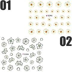 ネイルシール 花 フラワー 選べる10種類 (10-T23)