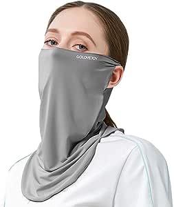 Guooolex フェイスマスク ネックカバー フェイスガード フェイスカバー バンダナ UVカット 日焼け防止 UPF50+ 冷感 吸汗速乾 呼吸しやすい 多機能 夏 男女兼用