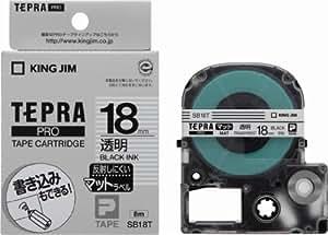 キングジム テープカートリッジ テプラPRO SB18T 18mm 透明