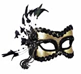 ブラックとゴールドカーニバルマスク♪ハロウィン♪サイズ:One Size