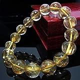 高級天然石ルチルクォーツ、ゴールド・タイチンルチル クォーツ12.5~13mm珠パワーストーン.ブレスレット(女性LL.男性L.size)