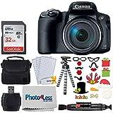 Canon PowerShot SX70 HSデジタルカメラ 60倍ズームレンズ&内蔵Wi-Fi(ブラック)+32GBメモリーカード+カメラケース+フレキシブル三脚+USBカードリーダー+クリーニングクロス+フォトプロップスホリデーパッケージ