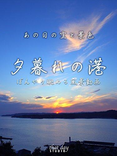 あの日の空と景色 夕暮れの港 ぼんやり眺める風景動画