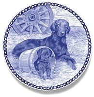 デンマーク製 ドッグ・プレート (犬の絵皿) 直輸入! Flat-coated Retriever / フラット・コーテッド・レトリーバー
