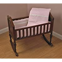 Baby Doll Bedding Madisson Puffed Brocade with Lace Crib Bedding Set, Pink by BabyDoll Bedding