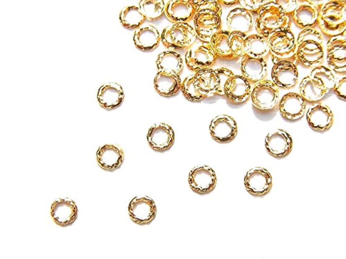 ラック黒休憩【jewel】ug18 ゴールド 薄型メタルパーツ ツイストリング Sサイズ 10個入り ネイルアートパーツ レジンパーツ