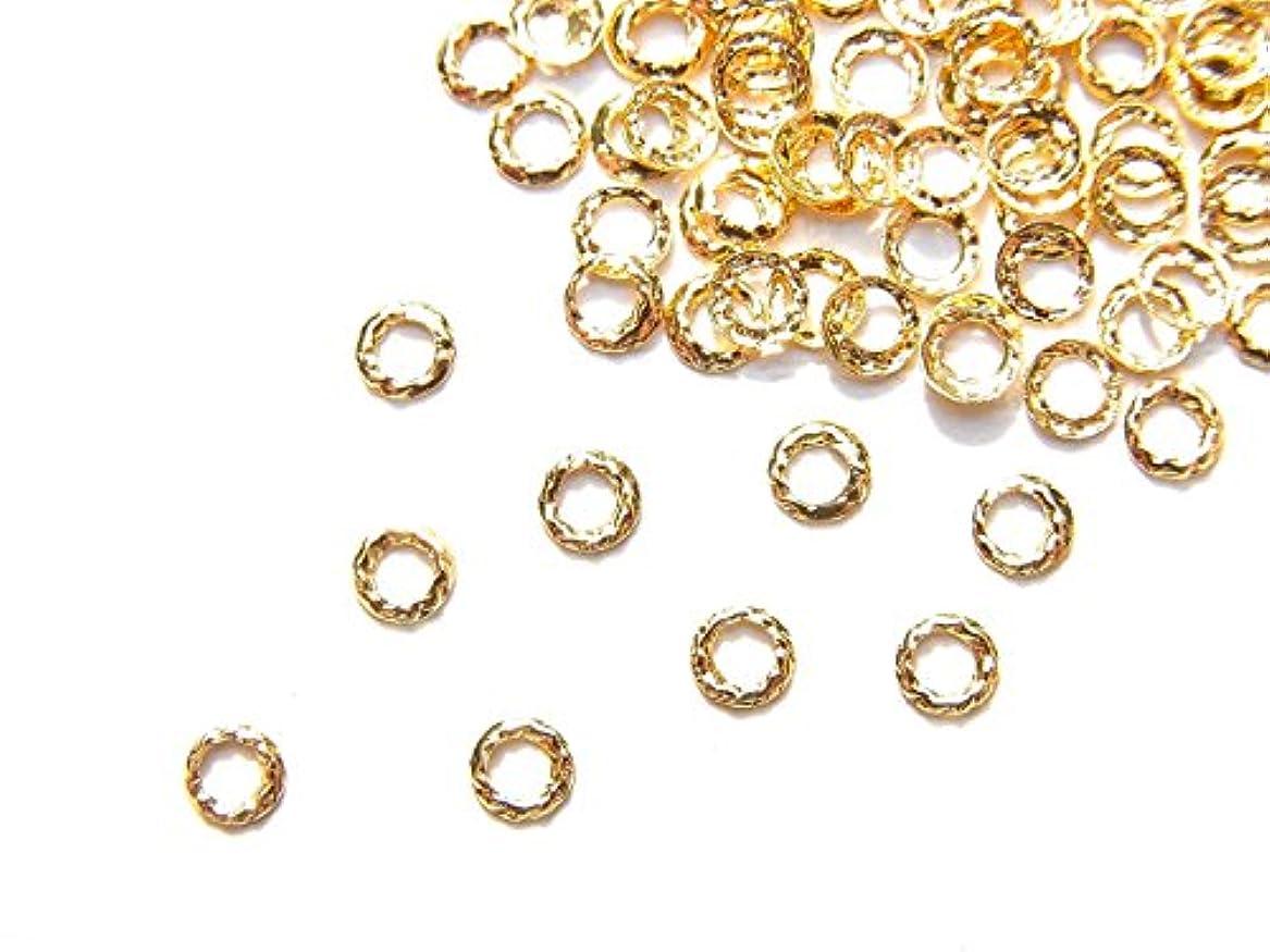 冗談で遺伝的退却【jewel】ug18 ゴールド 薄型メタルパーツ ツイストリング Sサイズ 10個入り ネイルアートパーツ レジンパーツ