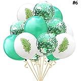 Funpa 15点セット 風船 デコレーション バルーン 夏 パーティー ハワイ 風情 全3タイプ カラフル ビーチ 海 30cm