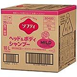 花王61-8509-99ソフティヘッド&ボディシャンプーMILD(マイルド)10Lバッグインボックスタイプ介護用