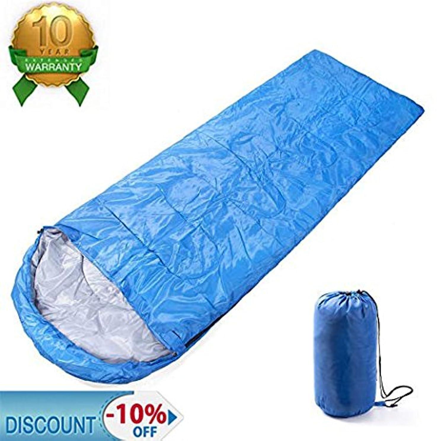 できるジャグリングペック寝袋 スリーピングバッグ 軽量 封筒型 折りたたみ式 簡単収納 耐寒 収納袋付き アウトドア/登山/車中泊 15℃~5℃ 夏用 丸洗いOK