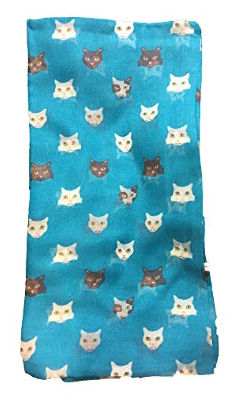 修羅場クリエイティブ確立します猫の顔スカーフ - キティの猫の顔がこの素敵なスカーフから見える