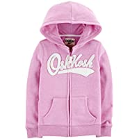 Osh Kosh Girls' Kids Full Zip Logo Hoodie