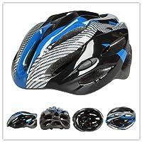 新型 軽量 自転車ヘルメット サイクルヘルメット ロードバイク・マウンテンバイク・クロスバイク・スポーツバイクに最適です! 大人用 通勤や通学にも 全3色 カーボン色 54~60cm カーボンブルー並行輸入品