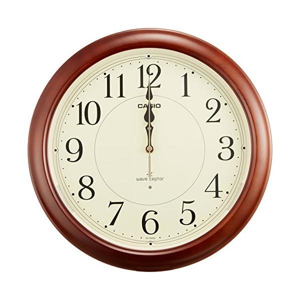 カシオ 夜見えライト付き 電波アナログ壁掛け時計の紹介画像3
