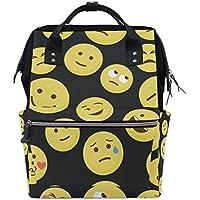 ママバッグ マザーズバッグ リュックサック ハンドバッグ 旅行用 顔文字柄 面白い ファション