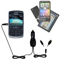 ダブルポートMicro Gomadic車/自動DC充電器Suitable for the Blackberry Curve 9310–Charges upと同時に2デバイスをGomadicテクノロジー