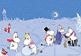 216ピース ジグソーパズル プリズムアート 楽しい冬のムーミン谷(25x36cm)