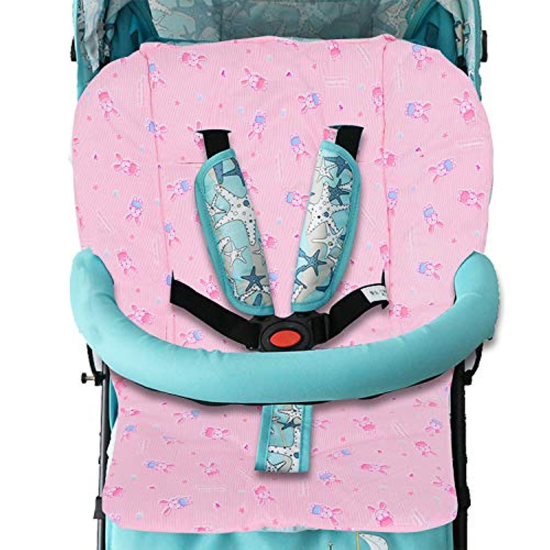 ベビーカーシート クッション 赤ちゃん用 チェアシート カバー コットン 柔らかい 暖かい チャイルドシート用マット ウサギ柄 可愛い 幼児用 チェアクッション ベビーカーマット 保温 汗取り お出かけ用品 快適 軽量 折り畳み 洗える オールシーズ 贈り物
