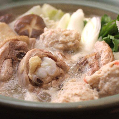 水郷どり 博多風 水炊き 鍋セット (2~3人前) 肉とスープのセット