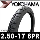 当日発送【強化タイヤ!!】YOKOHAMA製 R300 2.50-17 6PR チューブタイプ HONDA ホンダ SUPER CUB スーパーカブ PRESS CUB プレスカブ BENLY ベンリィ リアタイヤ 後輪タイヤ