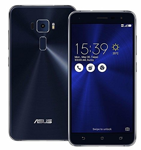 ASUS エイスース ZenFone 3 ブラック ZE552KL 4GB 64GB (SIMフリー) [並行輸入品]