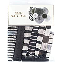 My Mind's Eye BWP205 Black and White Party Fans 8/Pkg [並行輸入品]