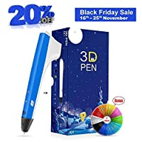 Enotepad 3D Print PenSmart 3D Pen Set for Kids with Free Refill Filaments - Intellectual Toy for Boys & Girls Age 6 & Up DIY & Design Crafting(Blue) [並行輸入品]