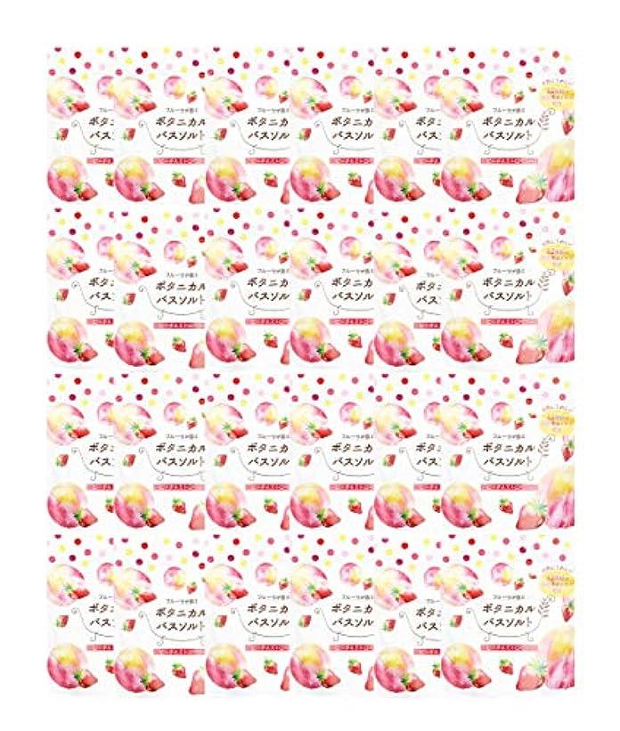 芽大使館印象的松田医薬品 フルーツが香るボタニカルバスソルト ピーチ&ストロベリー 30g 24個セット