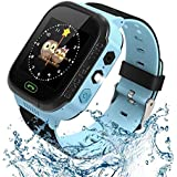 Kids Smart Watch, Enow Waterproof LBS Tracker Children Smartwatch for 3-12 Years Old, with SOS Call Camera Flashlight Alarm A