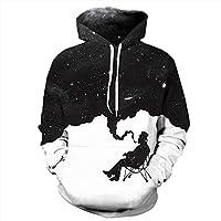 Roaays M Unisex 3D Hoodies Sweatshirts Funny Creative Pullover Hoodie S-3XL