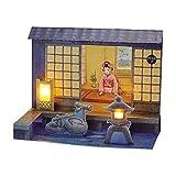サンリオ クリスマスカード 和風 立体 メロディ 夜の日本庭園と舞妓 S7046