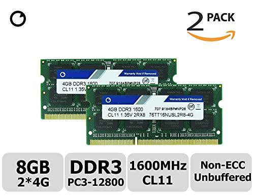 Hynix IC 8GB キットDDR3L 1600 MHz PC3L 12800 NonECC Unbuffered 1.35 v CL11 2Rx8 デュアル ランク 204 Pin SODIMM ラップトップ ノート ブック コンピューター メモリ Ram モジュールのアップグレード (低密度 4GB×2枚組