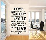 Qlann ウォールステッカー 可愛い 貼り付け 防水 ビーチ ウォールペーパー シール 客間 洋風 リビング 子供部屋 壁紙Love/house Rule