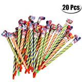 PartyYeah 20 Pcs Extra Long 8.1Inch Funny Paper Party Blowouts Blowers-Noisemakers Whistles for New Year Party Birthday in Random Colors, Multicolored Funny Party Supplies [並行輸入品]