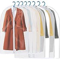 洋服カバー ストレージスタイル 中身が見える ホコリ防止 衣類収納ケース 半透明衣類カバー 取り付け簡単 防カビ 防虫 洗うでき 8枚セット 100CM*4&120CM*4