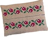 オリムパス製絲 ししゅうキット製作キット レッドフラワーティッシュケース 9001