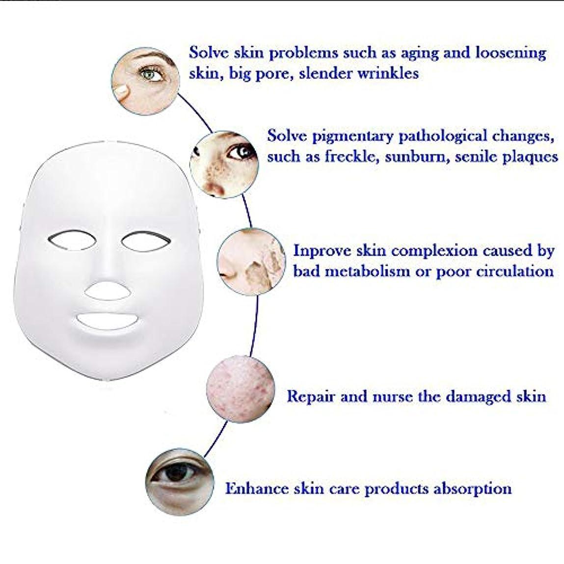 ガジュマル権利を与える年金LEDフェイスマスク、7色フォトンブルーレッドライトスキンリジュビネーションフェイシャルスキンケアマスク、アンチエイジング、しわ、瘢痕フェイシャルスキンケアマスク