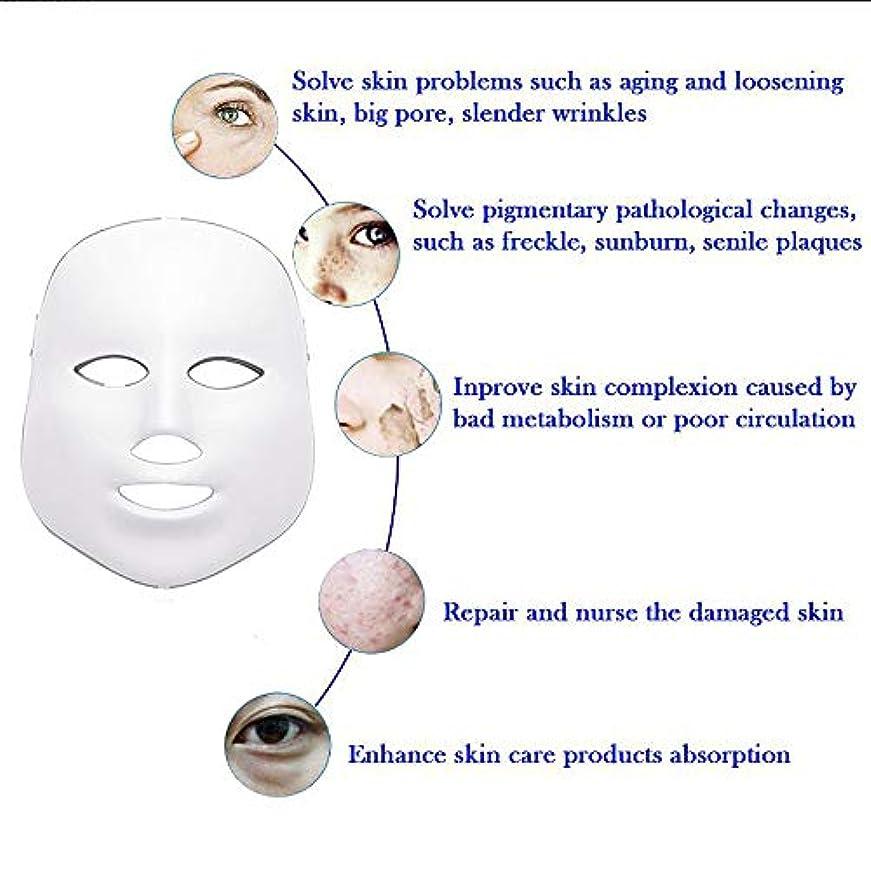 月衰えるバーLEDフェイスマスク、7色フォトンブルーレッドライトスキンリジュビネーションフェイシャルスキンケアマスク、アンチエイジング、しわ、瘢痕フェイシャルスキンケアマスク