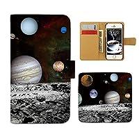 (ティアラ) Tiara Xperia XZ SO-01J スマホケース 手帳型 ポスター 手帳ケース カバーPHOTO 宇宙 地球 月 星 銀河系 E0181030090105