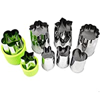 UpGoo Vegetable Cutters Mold Set Mini Biscuit Fruit Cookie Cutter Shape Mold ( 8 Piece/Green ) by UpGoo