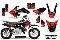 ホンダcrf502004–2013MXダートバイクグラフィックキットステッカーデカールCR 50ダイヤモンドFlame