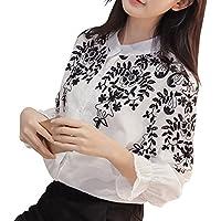 [エムズ ミミ] ヘンリーネックシャツ ホワイト ブラック 2色 S~XXXL