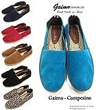 【GAIMO ガイモ】 スエード エスパドリーユ (CAMPESINO-SERRAJE) スペイン製 スリッポンシューズ スニーカー【ジュート】 レッド 42