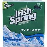 Irish Spring IcyBlast Cool Refreshment Deodorant Soap 113 g 3-Count Soap by Irish Spring