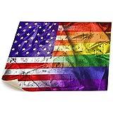 レインボーアメリカの旗ゲイプライドLGBTの旗 キャンバス 装飾 油絵 ホームデコレーション 塗り絵