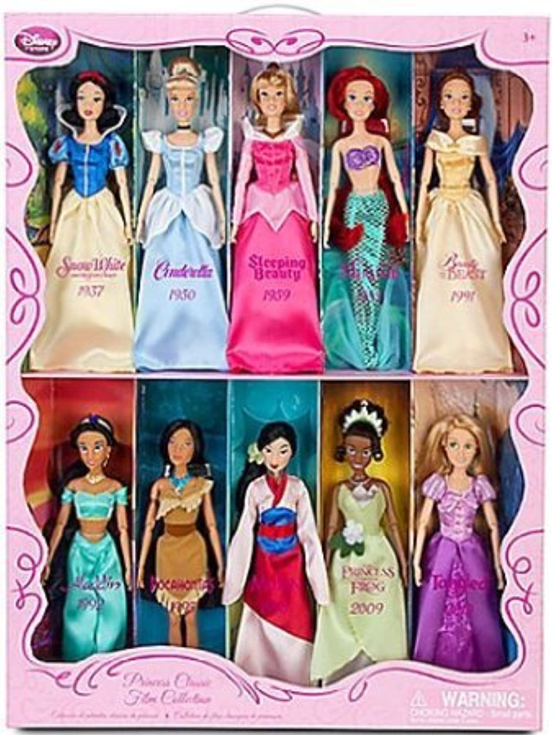 Disney (ディズニー)Princess Exclusive 10Piece Classic Film 12 Inch Doll Collection ドール 人形 フィギュア(並行輸入)