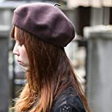 FLAMINGO (フラミンゴ) WOOL BASQUE BERET 日本製 ウール バスク ベレー帽 ベレー メンズ レディース フェルト 帽子 <M-Lサイズ ブラウン>