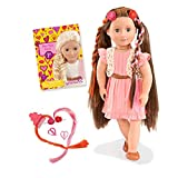 Our Generation From Hair to There 18-Inch Parker Doll with Extendable Hair and Style Guide in Cute Pink Dress by Our Generation