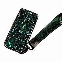 CATYAA 電話ケース互換性のあるiPhone Xケース、iPhone 6ケース、ラグジュアリーハンドメイドクリスタルラインストーンのブリンジフルダイヤモンドグリッターケース (サイズ : IPhone XR)